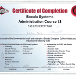 Certificado Bacula Systems Bacula Administrator II