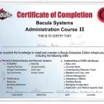 Certificado Bacula Systems Bacula Administrator II
