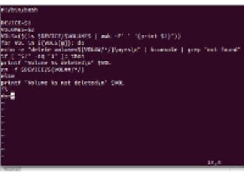 Shell Script para deletar um intervalo de Volumes do Bacula