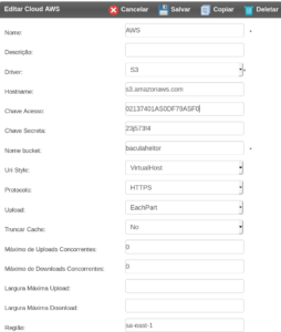 Driver de Storage S3, Swift, CEPH e Nuvem Bacula Enterprise – Guia Rápido 1