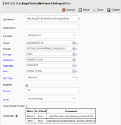 Zimbra Network Edition Backup with Bacula 1
