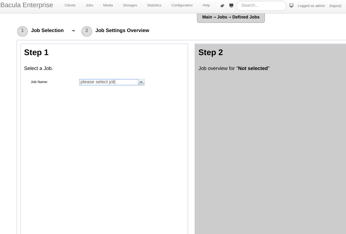 Bweb EBacula Quick Guide 11