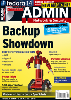 Bacula Citation at US Admin Magazine: Backup Software Comparative