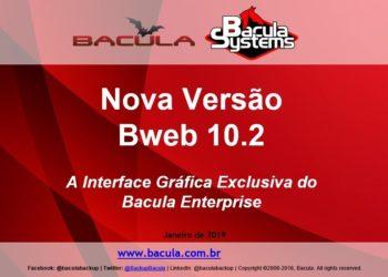 Nova Versão BWeb 10.2