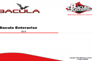 2019 Bacula Enterprise Edition Presentation / Slides