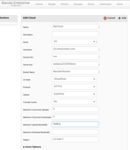 Enterprise Bacula S3, Swift, CEPH and Cloud Storage Driver