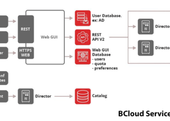 Detalhes da Interface do BCloud para Backup-as-a-Service