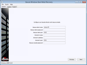 Plugin Recuperação Bare Metal Plugin Windows Bacula Enterprise - Guia Rápido 3