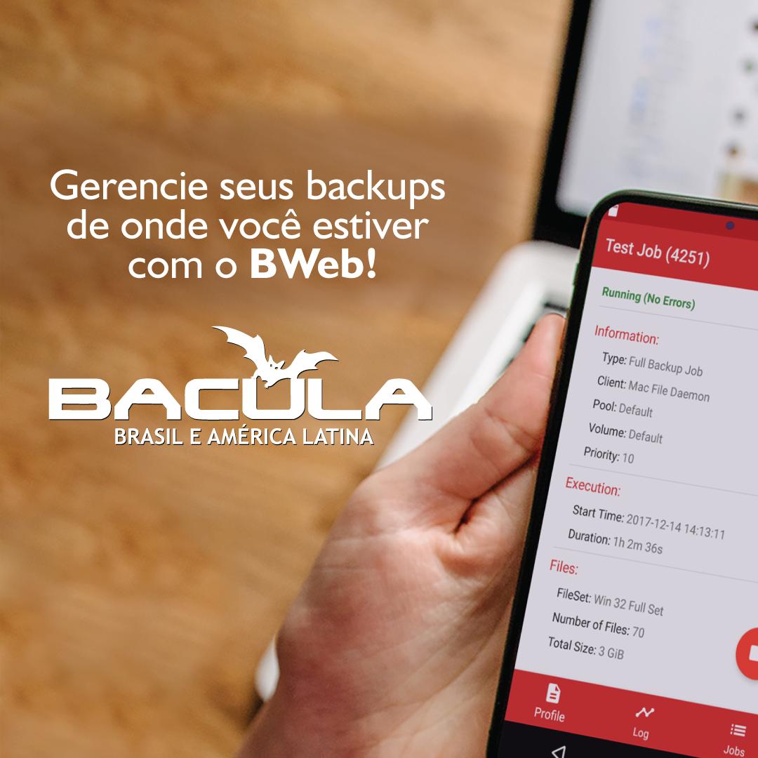 Home Office? Gerencie seus Backups de onde você estiver com o BWeb!