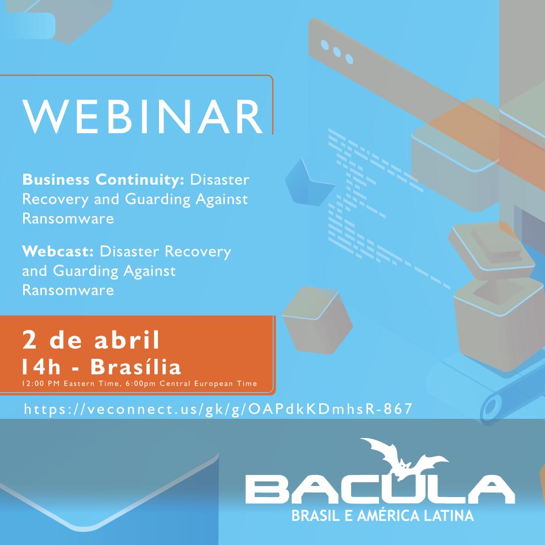 Amanhã: Webcast Bacula Systems
